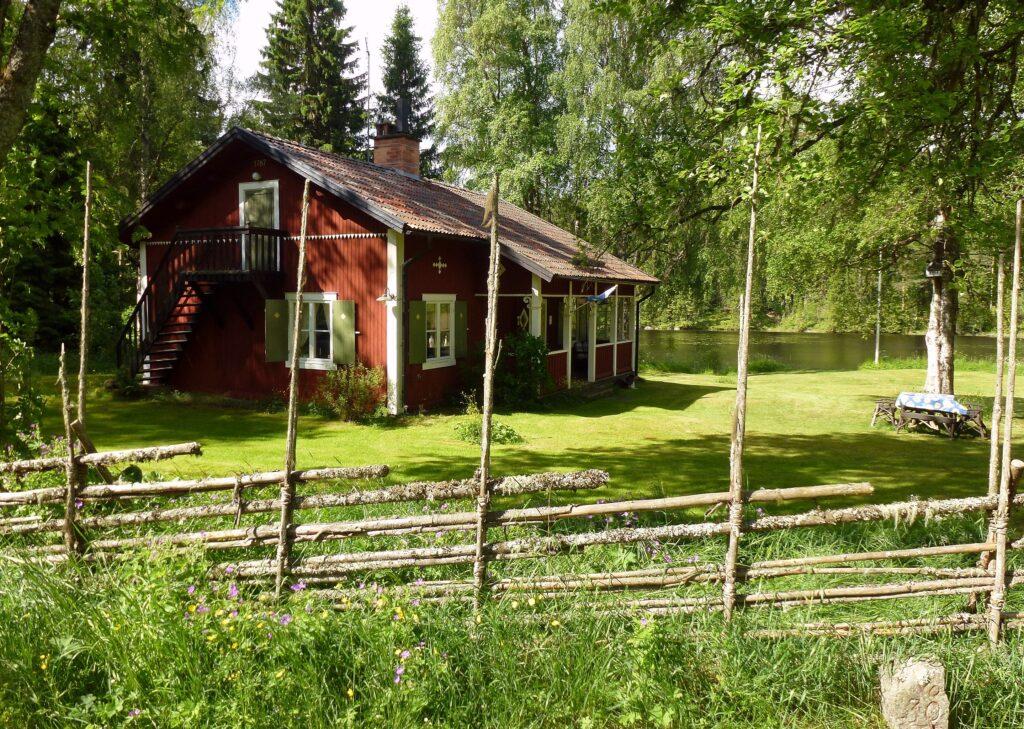 Traditionell gärdesgård